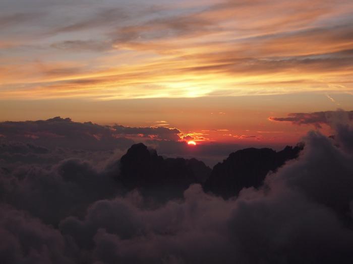 [69] Sonnenuntergang auf dem Piz Boe ©Kalle Kubatschka © Deutscher Alpenverein Sektion Rheinland-Köln