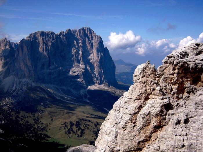 [74] Langkofel vom Pößnecker Klettersteig ©Kalle Kubatschka © Deutscher Alpenverein Sektion Rheinland-Köln
