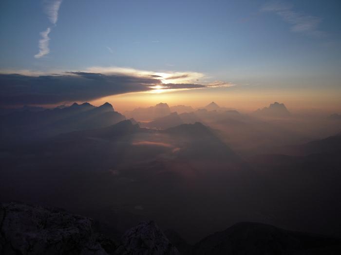 [76] Sonnenaufgang am Piz Boe ©Kalle Kubatschka © Deutscher Alpenverein Sektion Rheinland-Köln