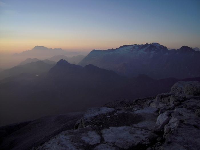[77] Sonnenaufgang am Piz Boe ©Kalle Kubatschka © Deutscher Alpenverein Sektion Rheinland-Köln