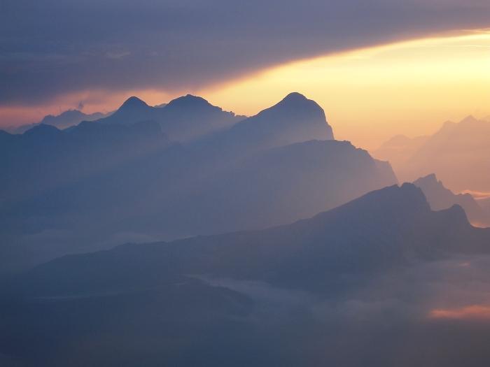 [79] Sonnenaufgang am Piz Boe ©Kalle Kubatschka © Deutscher Alpenverein Sektion Rheinland-Köln