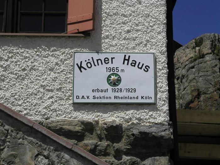 [104] Altes Hüttenschild Kölner Haus ©Kalle Kubatschka © Deutscher Alpenverein Sektion Rheinland-Köln