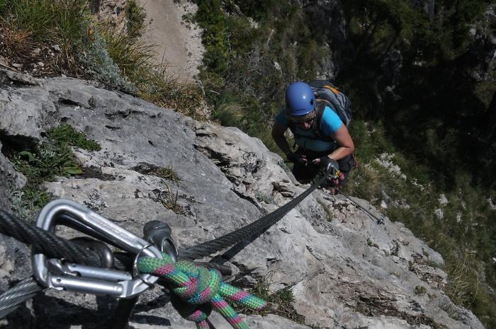 [136] Klettersteig ©Kalle Kubatschka © Deutscher Alpenverein Sektion Rheinland-Köln