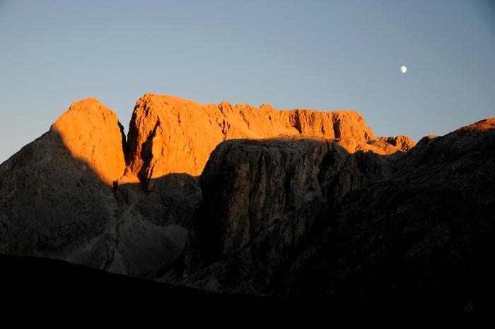 [144] Sonnenuntergang Tierser Alpl ©Kalle Kubatschka © Deutscher Alpenverein Sektion Rheinland-Köln
