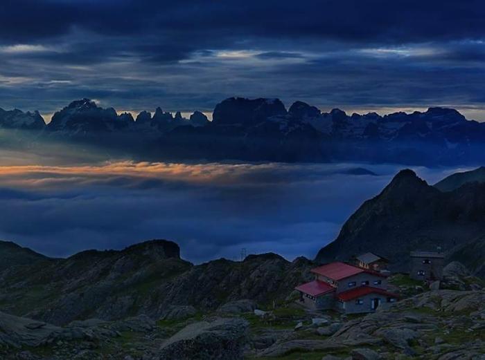 [221] Dolomitenpanorama - Refugio Segantini ©Cesare Carlo Martinato © Deutscher Alpenverein Sektion Rheinland-Köln