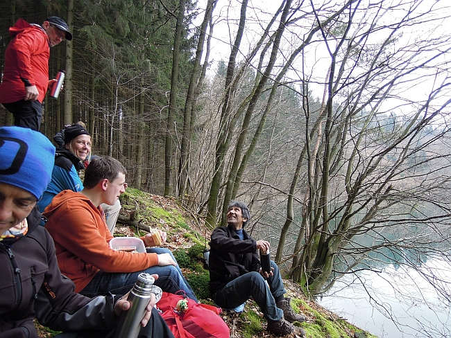 Wohlverdiente Pause beim Konditionstraining mit Jens © Deutscher Alpenverein Sektion Rheinland-Köln