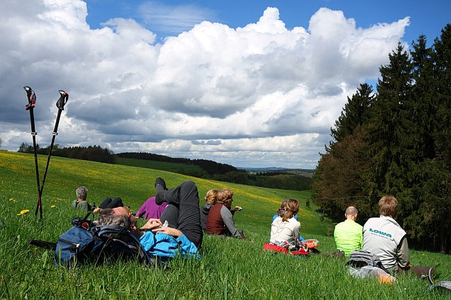 Himmel un %C3%84%C3%A4d: Pausengenuss beim Konditionstraining ab Staffel mit Jens © Deutscher Alpenverein Sektion Rheinland-Köln