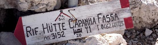 [72] Wegweiser zur Capanna Fassa am Piz Boe ©Kalle Kubatschka