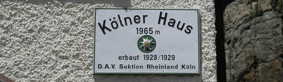 [104] Altes Hüttenschild Kölner Haus ©Kalle Kubatschka