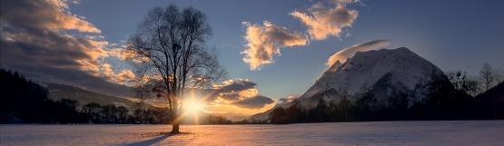 [225] Sonnenuntergang am Fuße des Grimmings ©Friedrich Beren