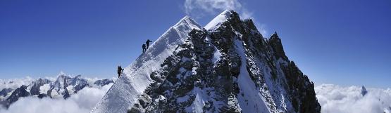 [227] Gipfelgrat Weisshorn ©Ralf Gantzhorn